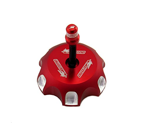 Klx110 Billet (Outlaw Racing Red Billet Gas Fuel Cap Kawasaki KLX110 02-09 KDX200 KDX220 01-10)