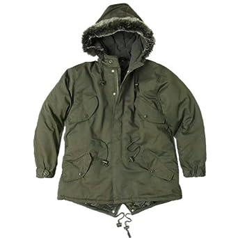 New Mod Fishtail Parka Coat/Jacket Faux Fur Hood - XS - XXL at ...