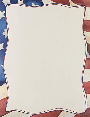 Patriotic Flag Printer Paper 80pk (Paper Flag Letterhead)