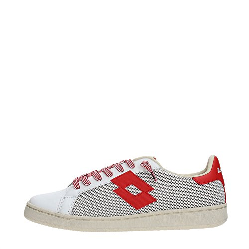 Lotto Autograph Net Sneakers Bianco Rosso T4559-41, Bianco
