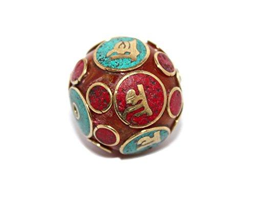 (Om Handmade Nepalese Tibetan Coral Turquoise Amber Beads)