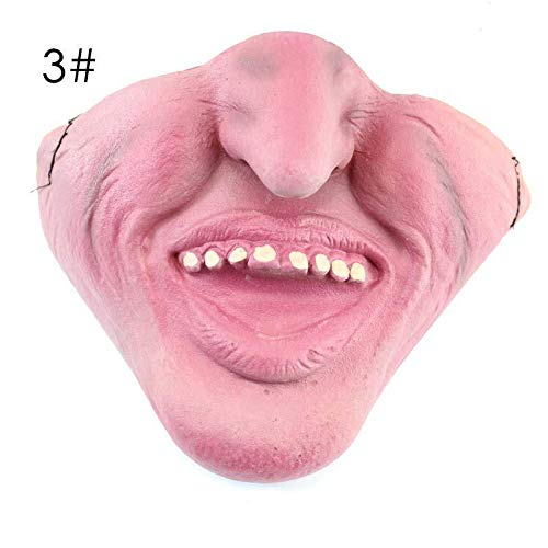 1pcs Funny Amp Scary Of Half Face Clown Latex Masks Halloween Party Decoration A30 - Party Masks ()