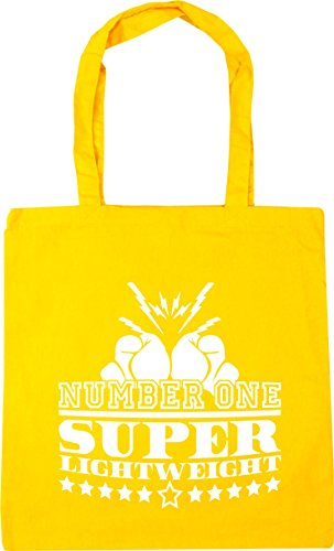 HippoWarehouse Number One Super Lightweight Tote Shopping Gym Beach Bag 42cm x38cm, 10 litres Yellow
