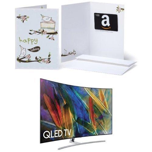 samsung electronics curved 4k ultra hd smart qled tv 2017 model with gift card in a. Black Bedroom Furniture Sets. Home Design Ideas