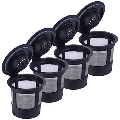 Reusable K Cups4 Pack Reusable Coffee Filter for Keuring Compatible with 10 BrewersK cup reusable filter Universal Fit Refillable Coffee Mesh Filter Stainless Steel