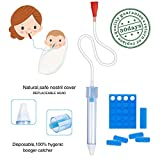 Premium Baby Nasal Aspirator Infant Booger Sucker, Non-Irritation, Fast and Reusable