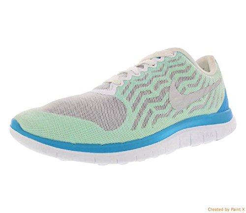 Nike Free 4.0 Afdruk Van Vrouwen Groene Gloed Running Sneakers 6 Ons