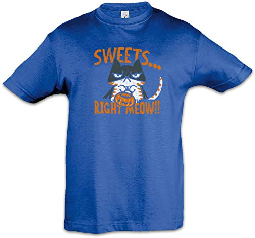 Urban Backwoods Sweets Right Meow Kids Boys Children T-Shirt Blue -