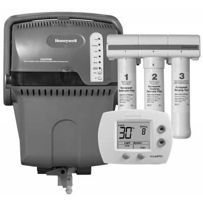 Honeywell TrueSTEAM Humidification System with HumidiPRO and RO Filter Kit-Black and White - H6062A1000/U YHM512-2