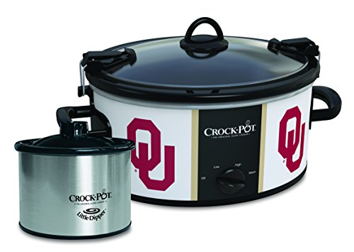 Oklahoma Sooners Collegiate Crock-Pot Cook & Carry Slow Cooker with Bonus 16-ounce Little Dipper Food Warmer