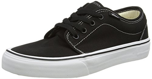 Vans Men's 106 Vulcanized Skate Shoes 6.5 (Black/White)]()