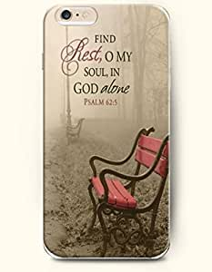 iPhone 6 Case,OOFIT iPhone 6 (4.7) Hard Case **NEW** Case with the Design of Find rest,o my soul, in God alone Psalm 62:5 - Case for Apple iPhone iPhone 6 (4.7) (2014) Verizon, AT&T Sprint, T-mobile