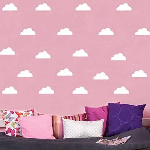 (TWJYDP Wall Stickers Wallstickers 45 Pcs Clouds Children Room Decoration DIY Home Vinyl Wall Decor Creative Sticker 4X8Cm)