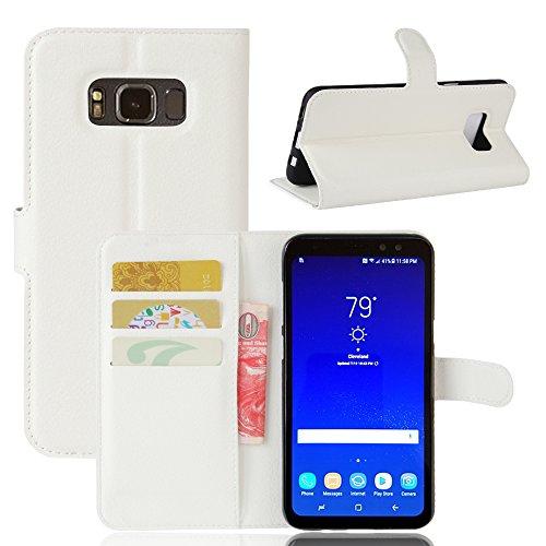 Funda Samsung Galaxy S8 Active,Manyip Caja del teléfono del cuero,Protector de Pantalla de Slim Case Estilo Billetera con Ranuras para Tarjetas, Soporte Plegable, Cierre Magnético(JFC8-22) A