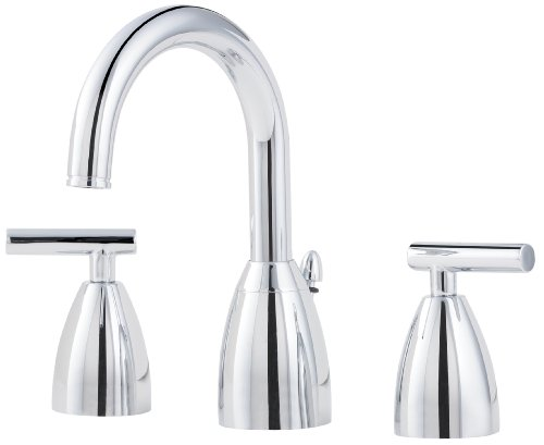 7 Faucet Finishes For Fabulous Bathrooms: Pfister Polished Nickel Widespread Faucet, Polished Nickel