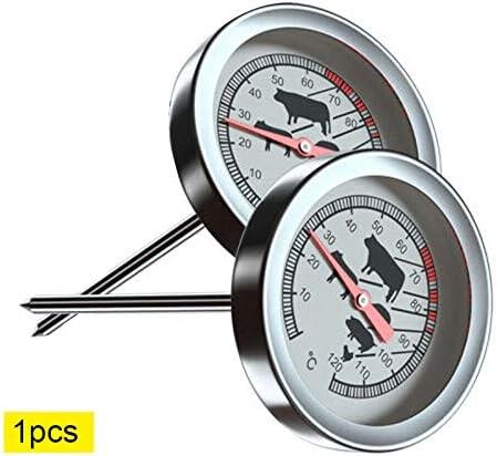 term/ómetro de caf/é con Leche Juntful Term/ómetro Parrilla de jard/ín al Aire Libre Herramienta term/ómetro de Acero Inoxidable Resistente al Calor