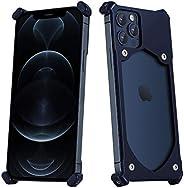 [iPhone 12 Pro Max] BeraShield Titanium Metal Slim Battery Case [Military Drop Tested, Lightweight, Naked Feel