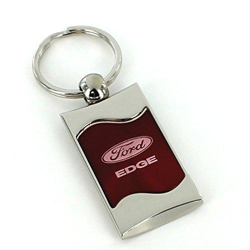 Ford Edge Red Spun Brushed Metal Key Ring - Edge Key Ring