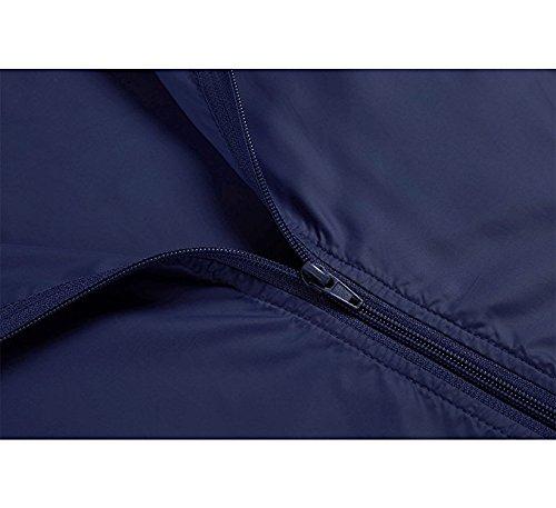 Vtements Marin Veste Longue Respirant Mince Manche Impermeable Manteau Bleu Femme Pluie Legere avec Capuche qOCxqwfaz
