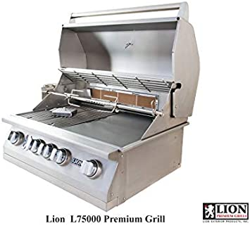 Lion Premium Grills 32-Inch Natural Gas Grill L75000 with Exclusive Best of Backyard Gourmet Package