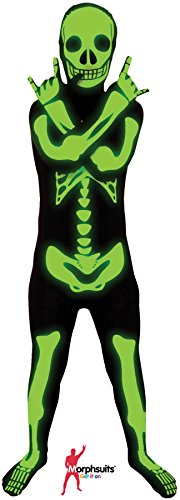 Glow Skeleton Morphsuit Kids Costume (Skeleton Costume Boy)