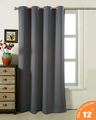 AMAZLINEN Sleep Well Blackout Curtains Toxic Free Energy Smart Thermal Insulated,52 W X 84 L Inch,Grommet Top,1 Panel Pack(Charcoal Grey)