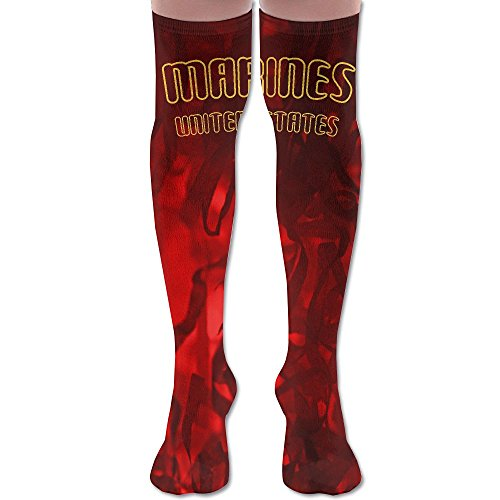 United States Marine Corps 3D Printing Over Knee Long Boot Fashion Women's Socks Sexy Thigh High Knee Socks Long Stockings Cheerleader