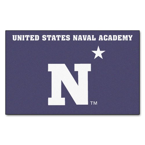 FANMATS NCAA US Naval Academy Midshipmen Nylon Face Ultimat Rug by FANMATS (Image #4)
