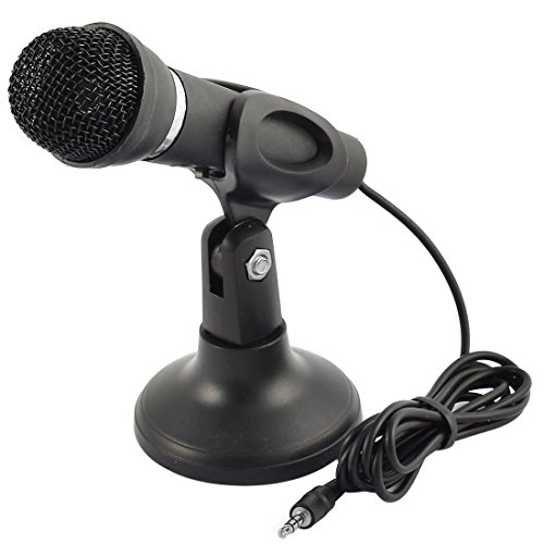 uxcell 3.5mm Connector Stereo Multimedia Condenser Vocal Mic