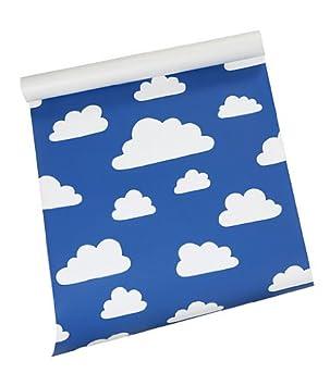 Farg Form Wand Papier mit Wolken