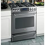 GE Cafe : CGS980SEMSS 30 Free Standing Gas Range with 5 Sealed Burners