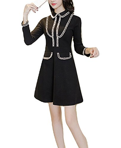 h and m black fringe dress - 2