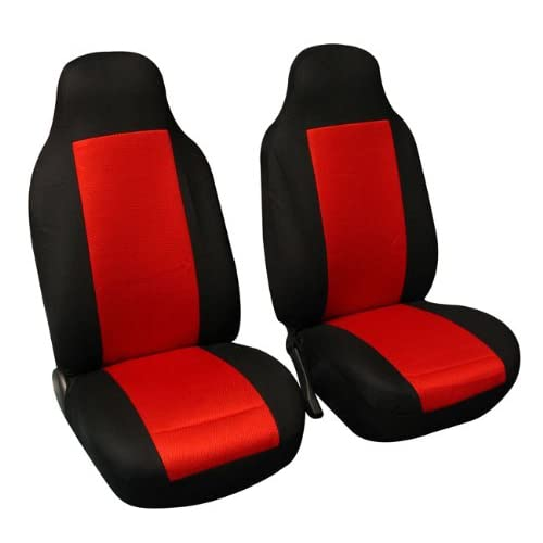 FH Group FB102RED102 Red Classic Cloth 3D Air Mesh Front Set Bucket Auto Seat Cover