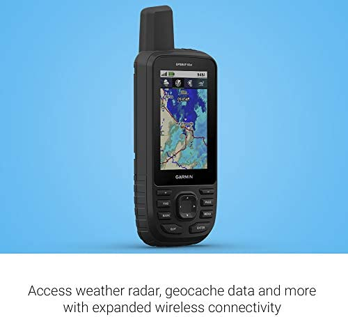 "Garmin GPSMAP 66st, Rugged Multisatellite Handheld with Sensors and Topo Maps, 3"" Color Display"