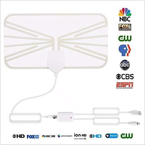Antena de televisión Digital de Alta definición en Interiores 1080p Amplificación 80 Millas 4K HD VHF UHF TDT en Tiempo...