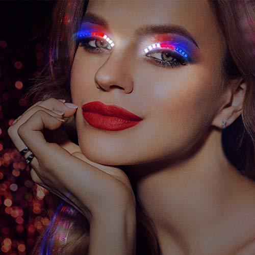 Bonitoys Colorful LED Eyelashes Light 12 Modes Switch, Waterproof,FLashes Luminous Shining Charming Eyelid Tape for Party Bar,NightClub KTV,Concerts,Birthday Gift,Halloween -