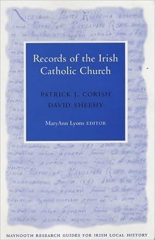 Livres en ligne gratuits à télécharger gratuitement en pdf Records of the Irish Catholic Church (Maynooth Research Guides for Irish Local History) by Patrick J. Corish (2001-09-01) B01A0CHDHA PDF