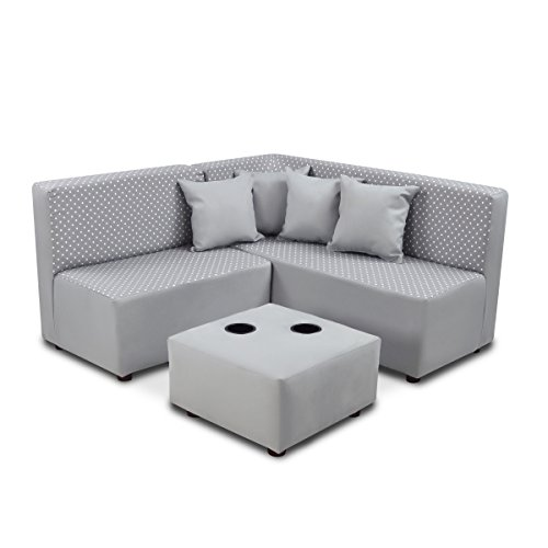 Kangaroo Trading Co. 1250MDSPEB Kid's Sectional Set Upholstered