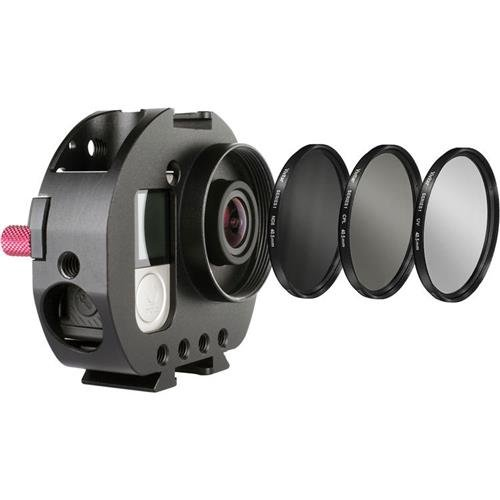 Varavon Armor Standard Cage for GoPro with UV, ND8 & CPL Lens Filters for Camera