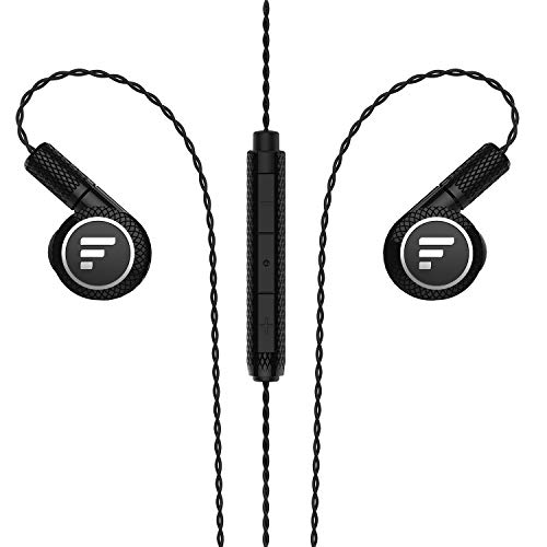 Triple Driver in-Ear Headphones, Fantany Wired Noise Cancelling in Ear Deep Bass Stereo Earbuds with Mic for Smart Phones, PC, Tablet Black