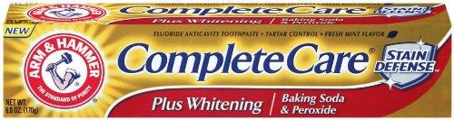 Arm & Hammer complète Care Plus dentifrice blanchissant avec bicarbonate de soude et de peroxyde, l'emballage peut varier, Tubes de 6 onces (Pack de 6)