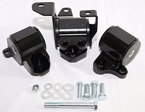 EMUSA Billet 3-Bolt Engine Mount Kit fit 96-00 Civic B-Series D Series Engine EK (Billet Mount Kit Replacement)