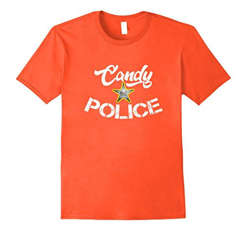 Mens Candy Police Funny Shirt Mom or Dad - Halloween Costume Tee Medium (Halloween Costumes For Moms And Dads)