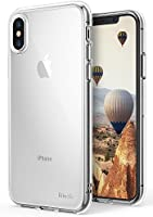 Apple iPhone X Case Ringke [AIR] Weightless as Air, Extreme Lightweight Transparent Soft Flexible TPU Scratch Resistant Protective Case for Apple iPhone X - Clear
