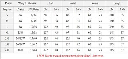 Ababalaya Women's Elegant Modest Muslim Full Length O-Neck Solid Pleated Runway Abaya S-4XL,Pink,Tag Size L = US Size 10-12 by Ababalaya (Image #2)