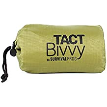 TACT Bivvy Emergency Survival Compact Sleeping Bag - Lightweight, Waterproof Bivy Sack Emergency Blanket with HeatEcho Thermal Space Blanket Material, for Survival Kits, Camping & Survival Gear