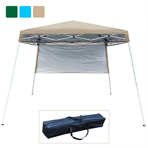 Quictent Silvox 10x10 EZ Pop Up Canopy Tent Instant Canopy Party Tent 8.7 ft height 4 Walls W/Free Carry Bag 100% Waterproof-7 Colors (Beige no sidewall) by Quictent