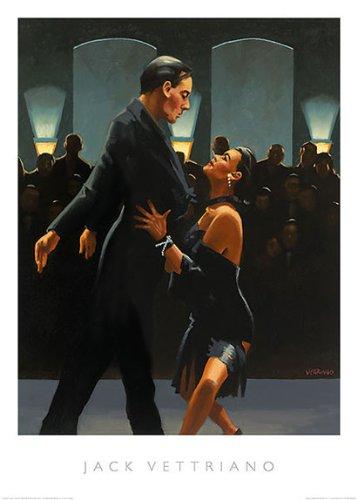 (Rumba in Black Jack Vettriano Dance Dancing Romance Love Print Poster 19.75x27.5 (Image Size; 17.75x23))