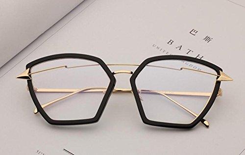 G y de para c europeo hombre de marco para UV400 metal Gafas sol Trend estilo y grande americano de Mirror Gafas RDJM sol mujer Frog 7qtXxSxw