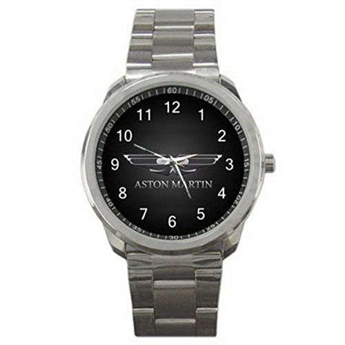 HSS041Aston Martin Car Logo #A Sport Metal - Steel Aston Stainless Watch
